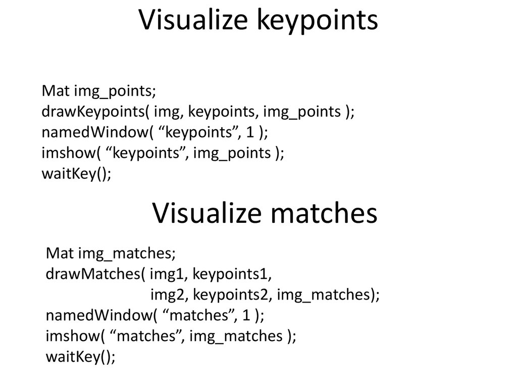 Visualize keypoints