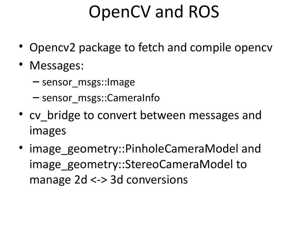 OpenCV and ROS