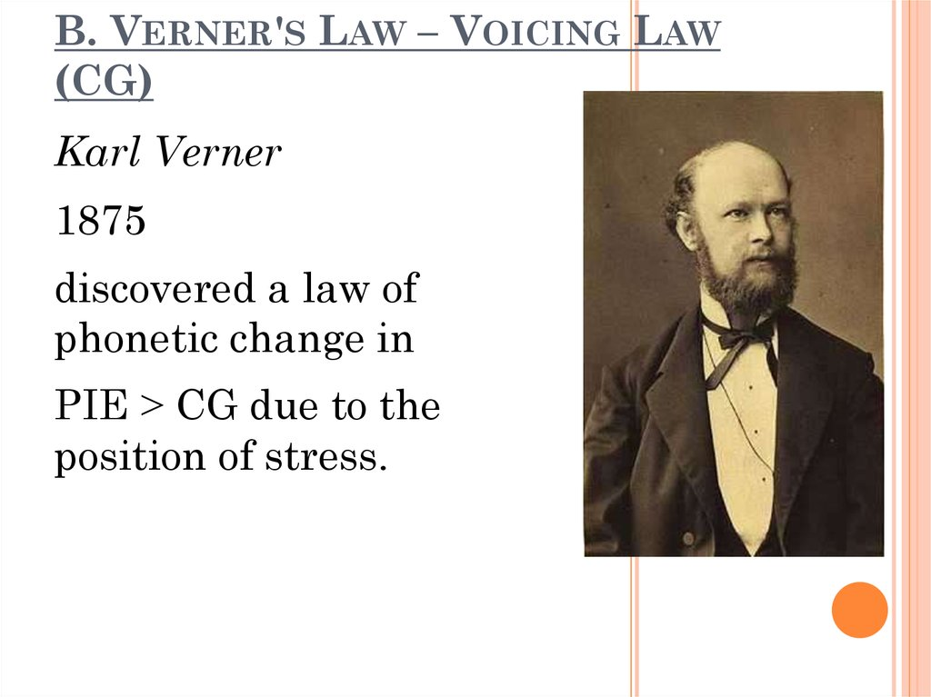 B. Verner's Law – Voicing Law (CG)
