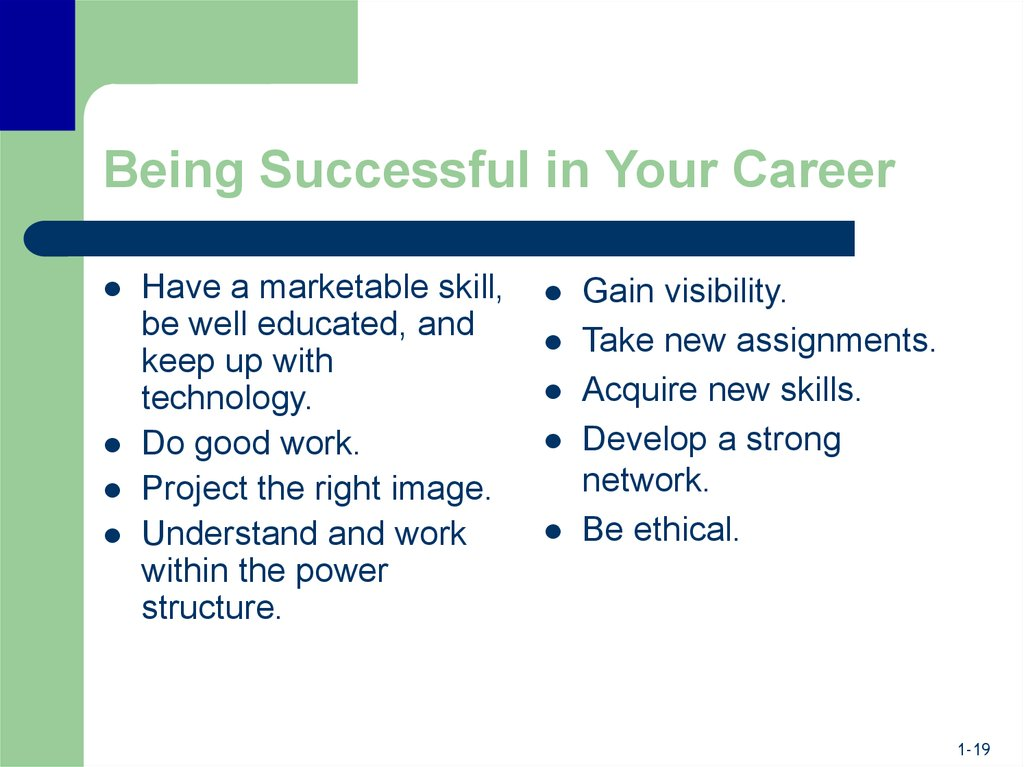 Being Successful in Your Career