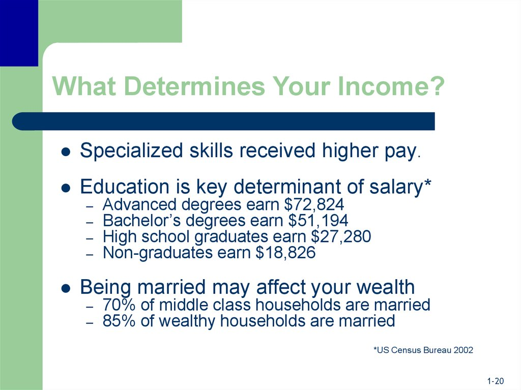 What Determines Your Income?