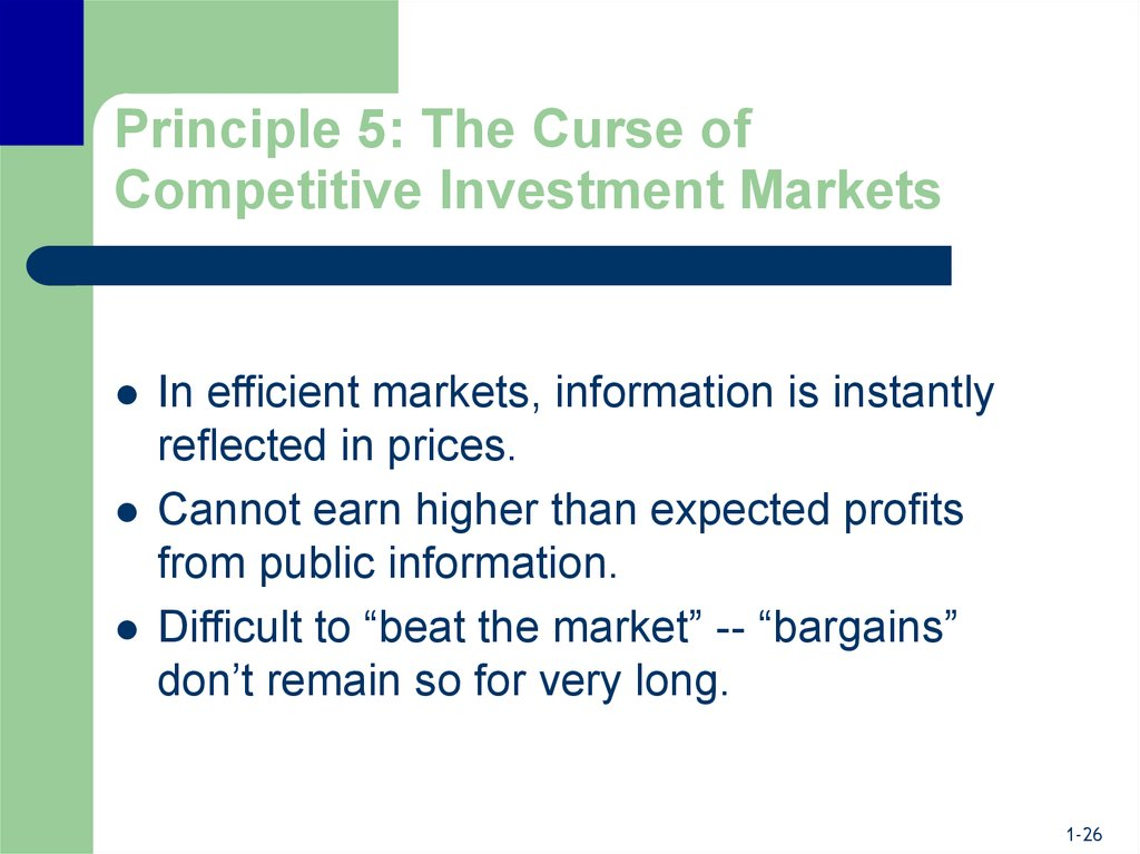 Principle 5: The Curse of Competitive Investment Markets