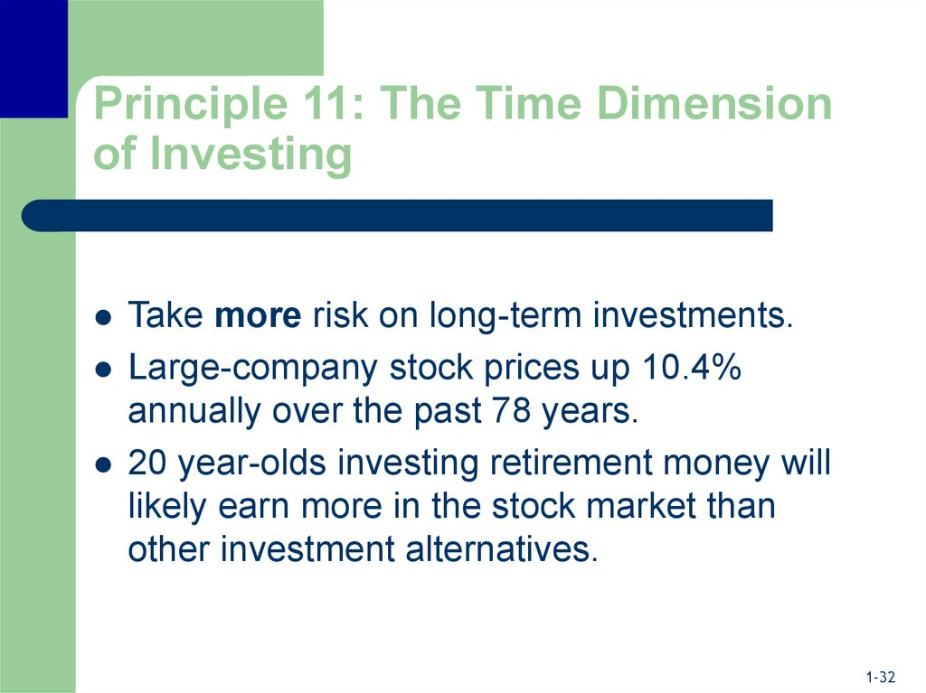 Principle 11: The Time Dimension of Investing