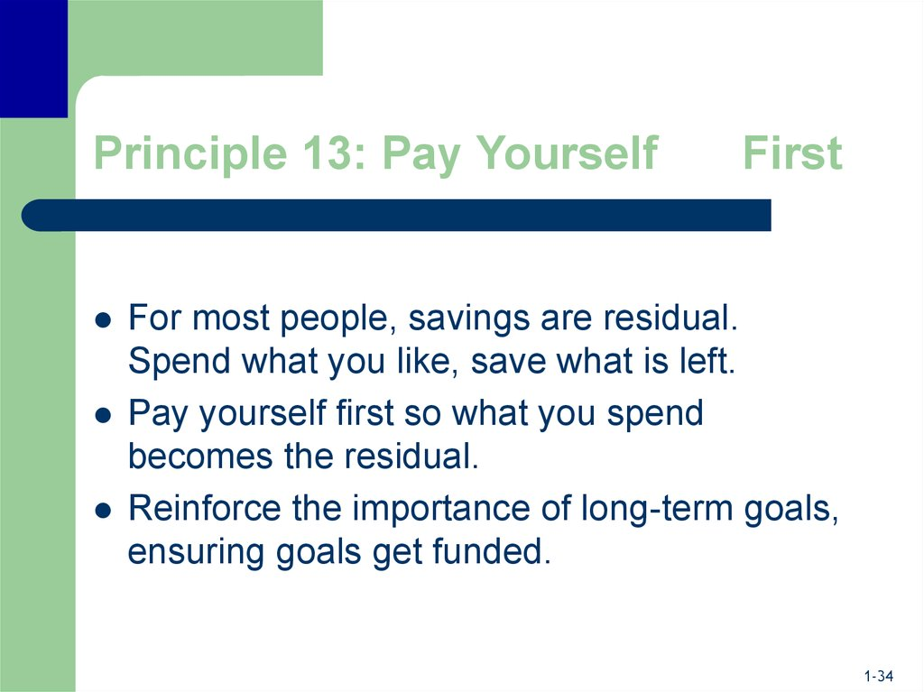 Principle 13: Pay Yourself First