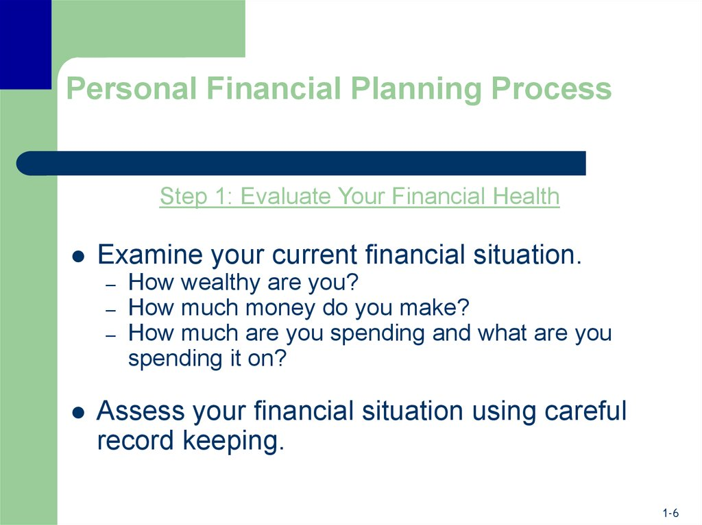 Personal Financial Planning Process