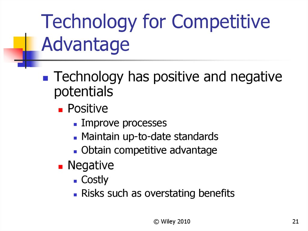 Technology for Competitive Advantage