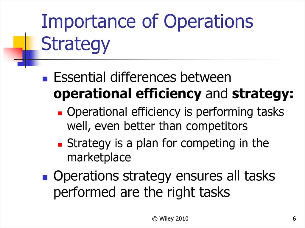Importance of Operations Strategy