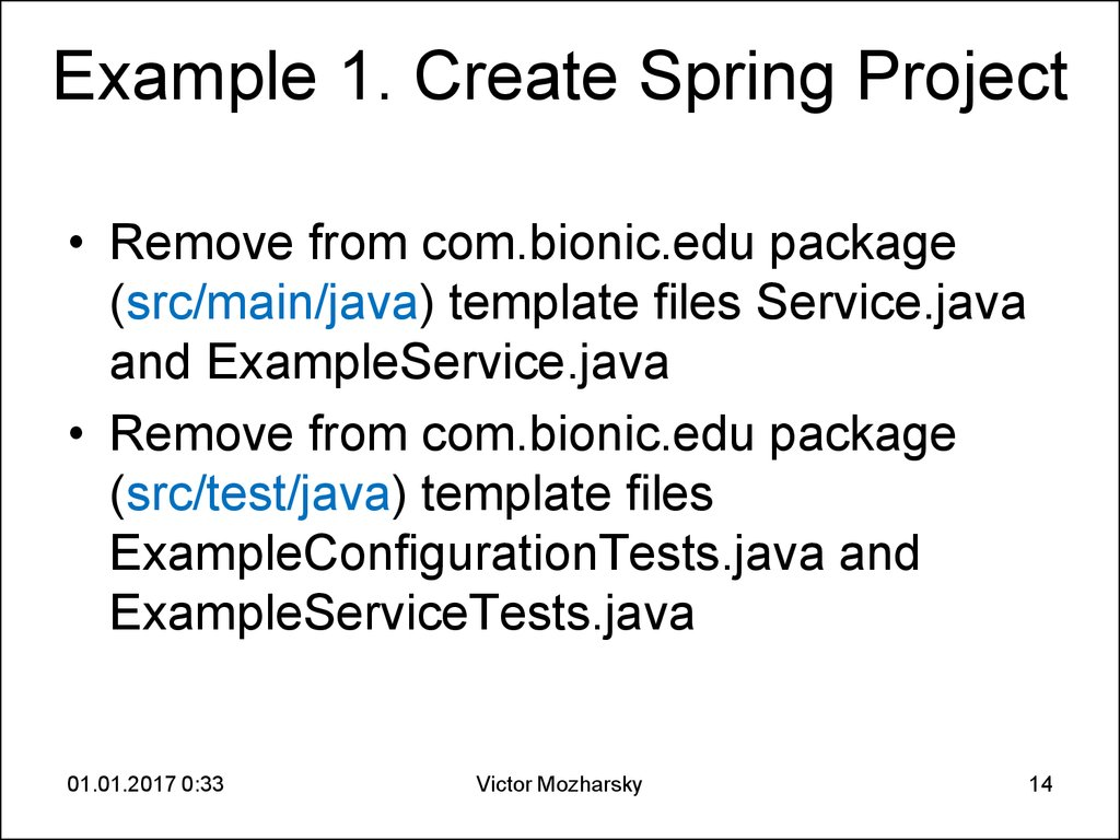 Example 1. Create Spring Project