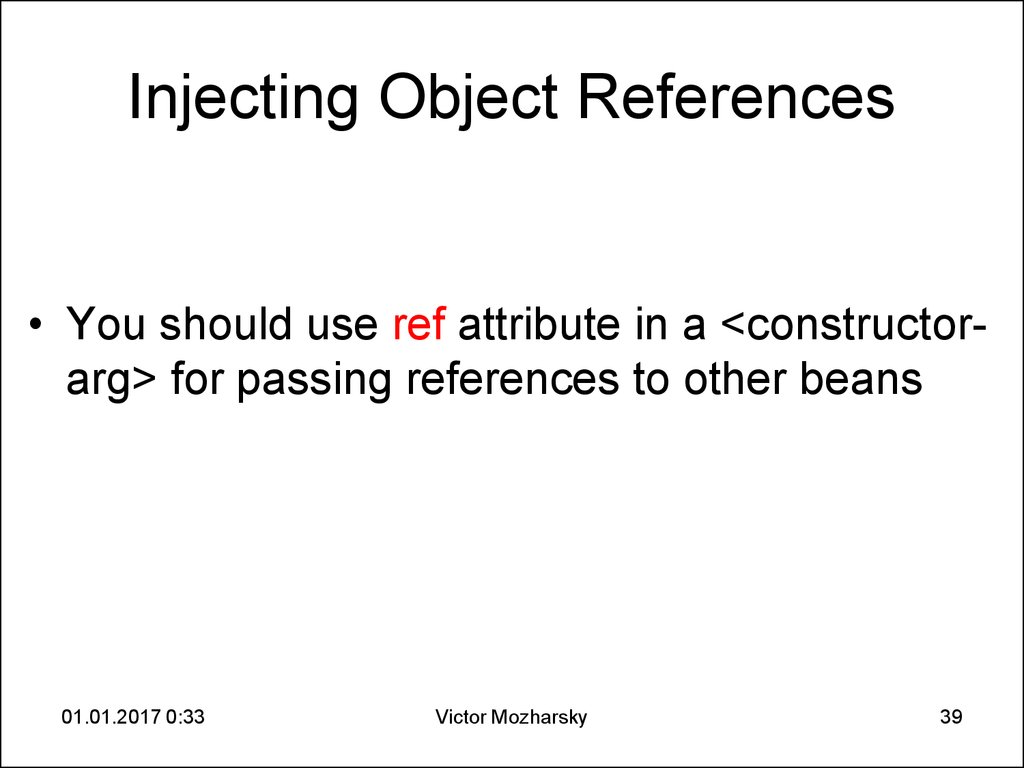 Injecting Object References