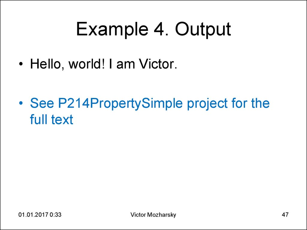 Example 4. Output