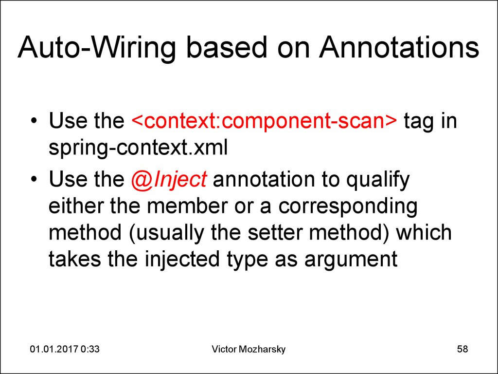 Auto-Wiring based on Annotations