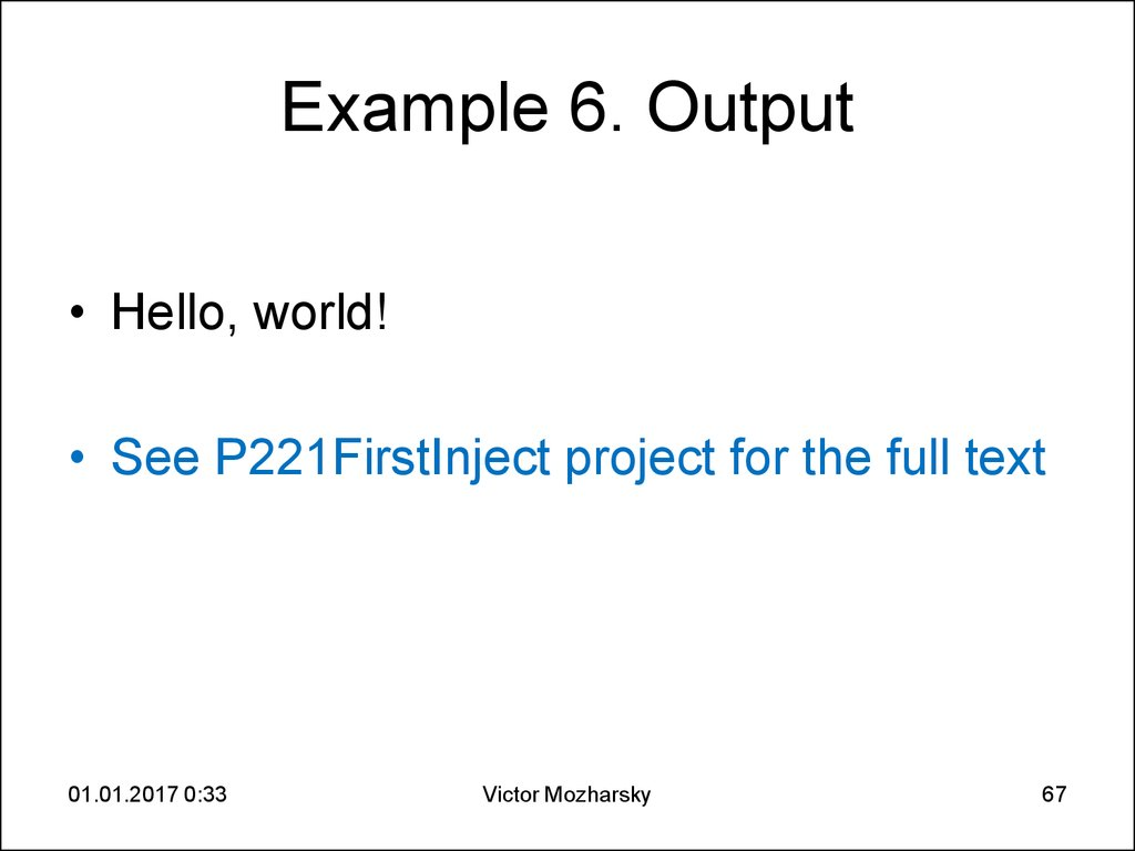 Example 6. Output