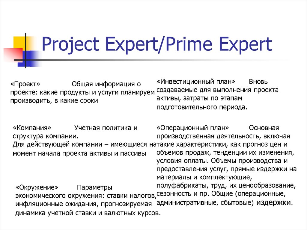 Project Expert/Prime Expert