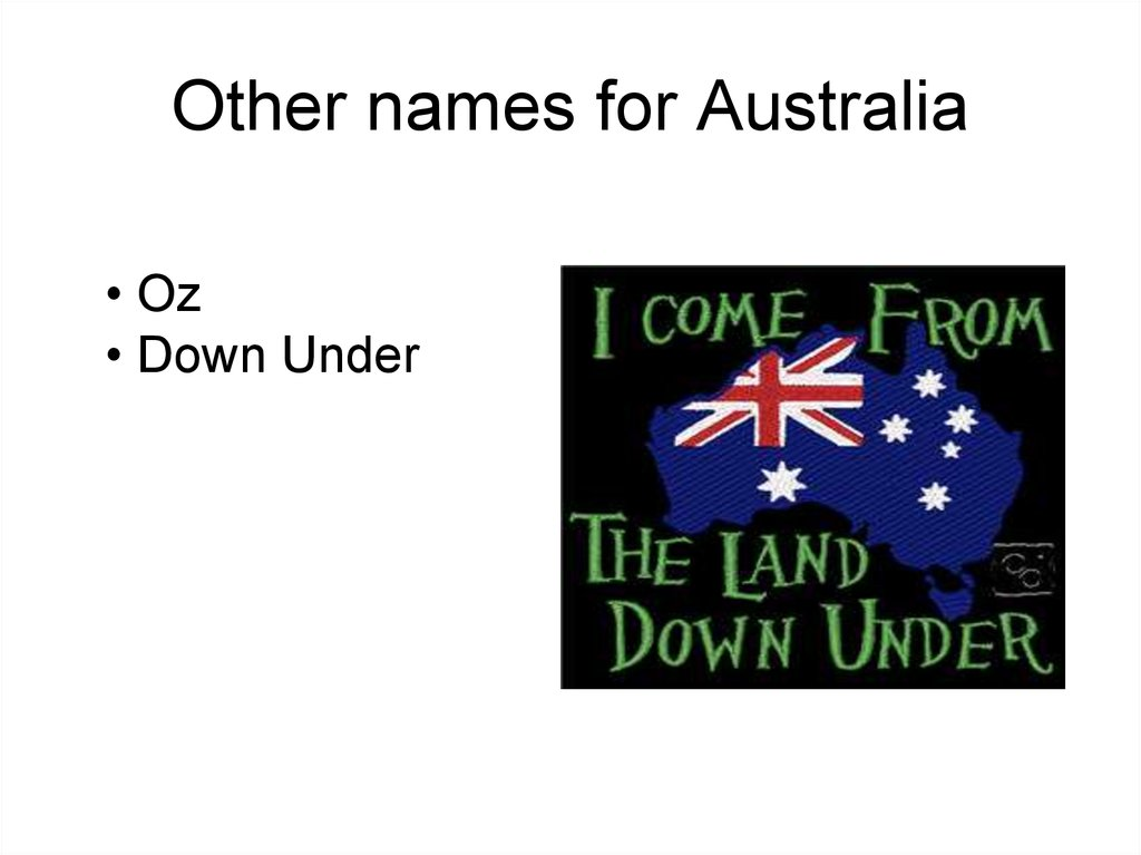 Other names for Australia