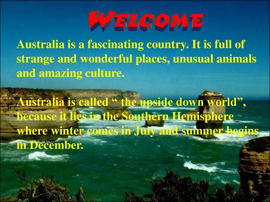 land down under australia