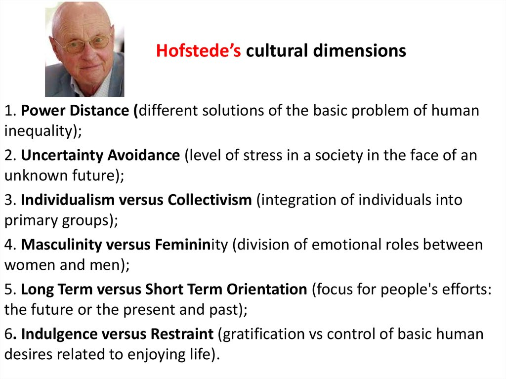 hofstedes dimensions of cultural differences