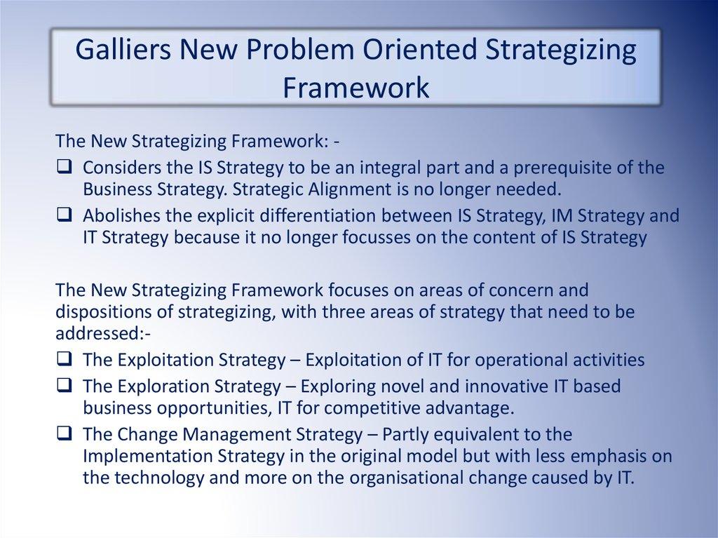 it strategy framework