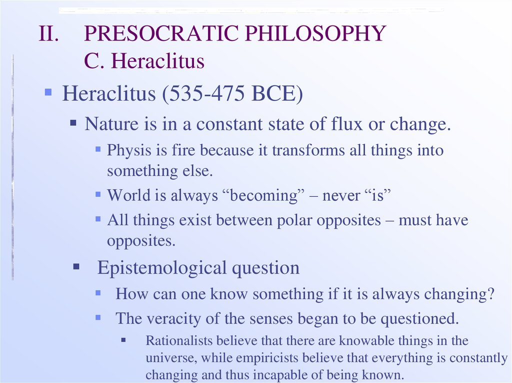 philosophy and heraclitus