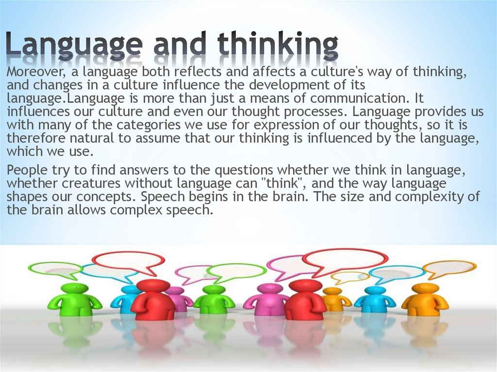 Language and thinking