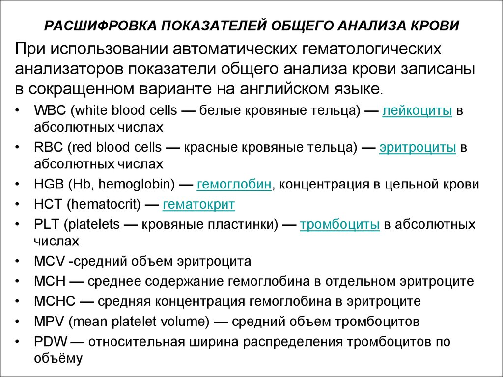 Расшифровка анализа крови гематокрит Справка об окружении Коломенская