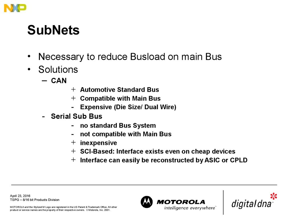 Lin Protocol Description Automotive Body Network Online Presentation Vehicle Wiring Can Bus 9 Subnets
