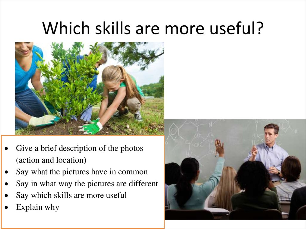 Which skills are more useful?