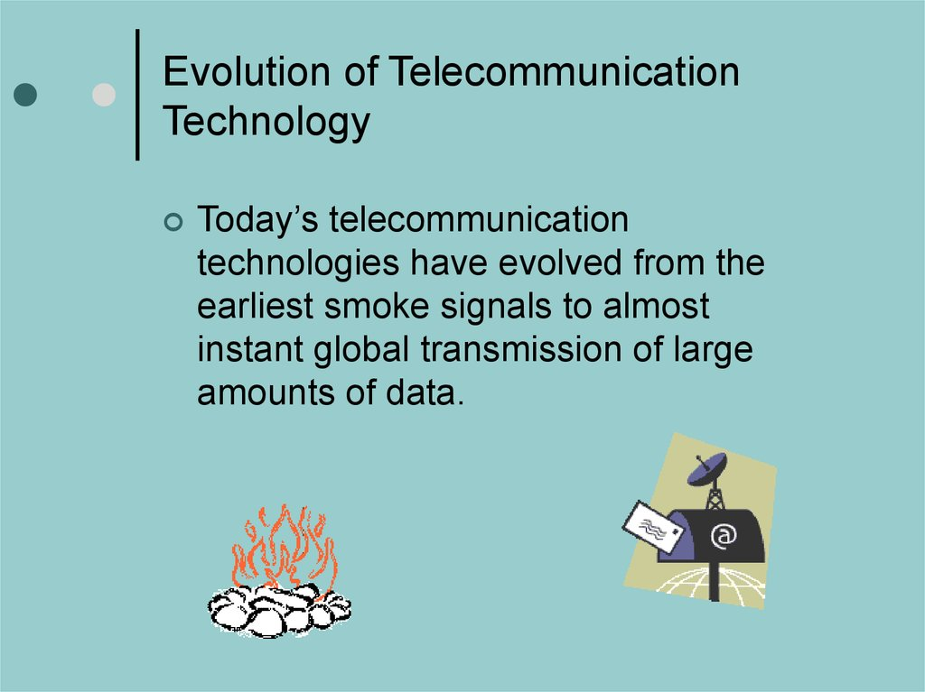 Evolution of Telecommunication Technology