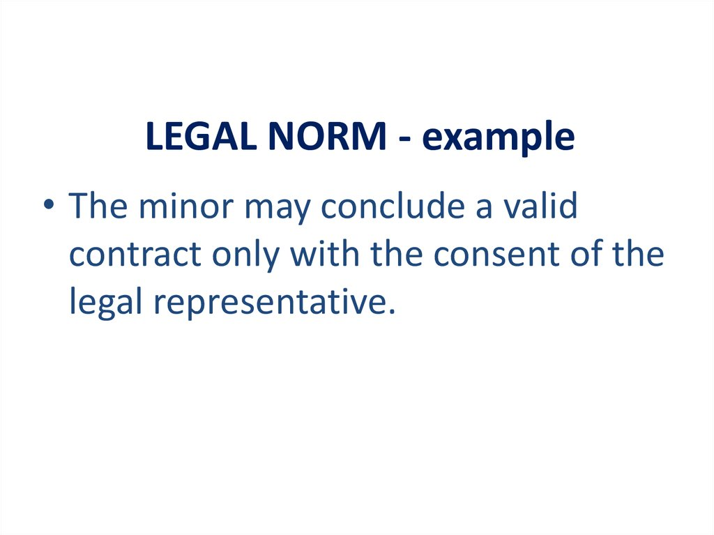 LEGAL NORM - example
