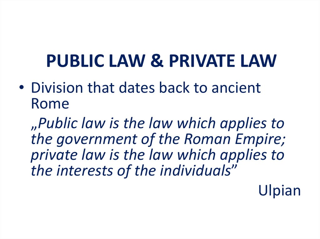 private law and civil law what is The civil law regulates conduct between private individuals, providing a remedy for breaches of those rules of conduct what is the aim of the court in a civil action to restore the individual to the position he enjoyed prior to suffering the particular injury or damage complained of.