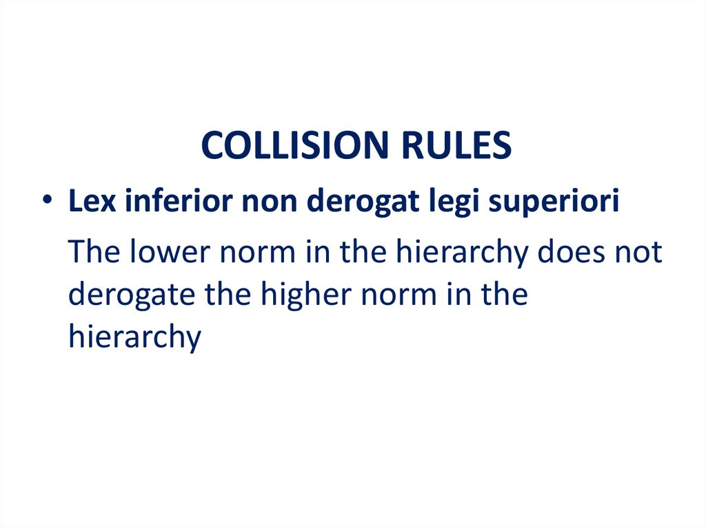 COLLISION RULES