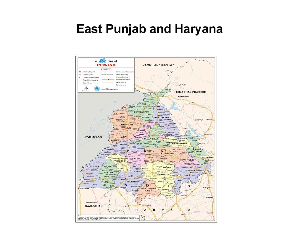 East Punjab and Haryana