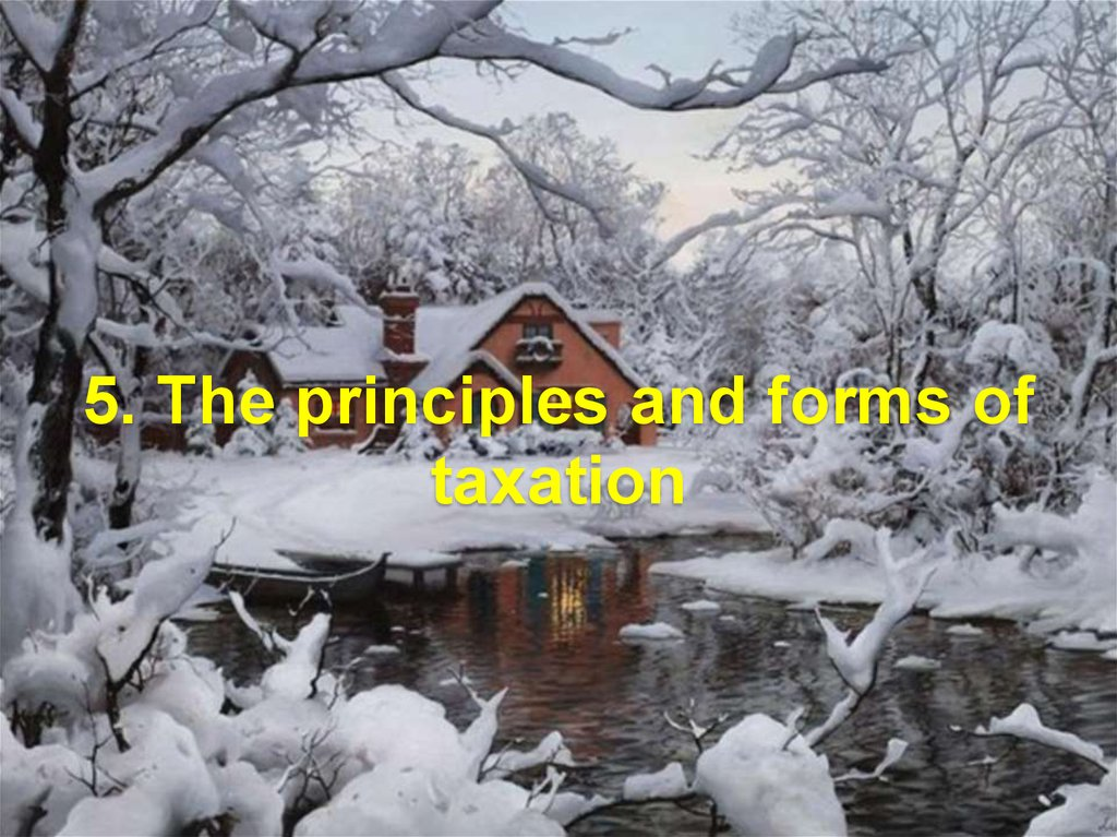 5. The principles and forms of taxation