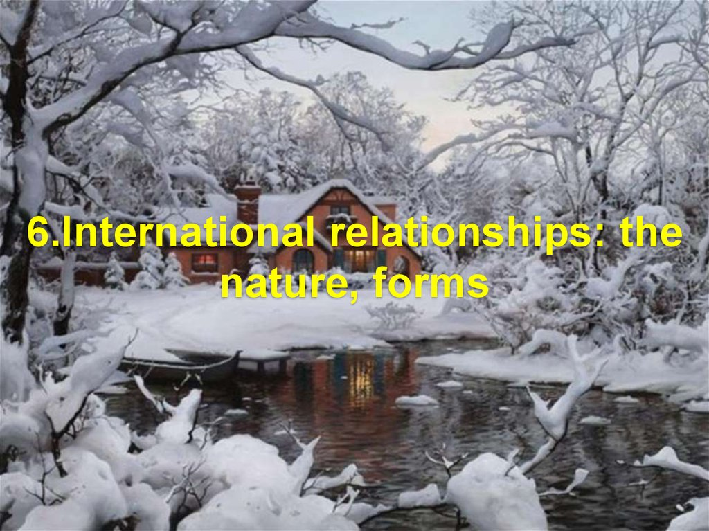 6.International relationships: the nature, forms