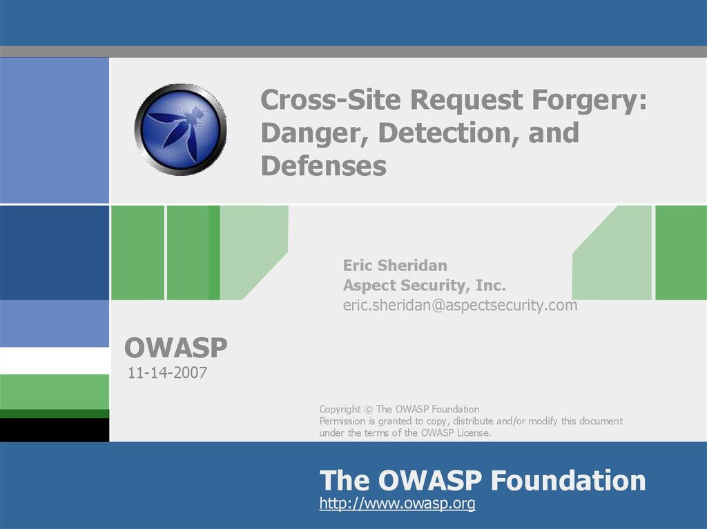 Cross-Site Request Forgery: Danger, Detection, and Defenses