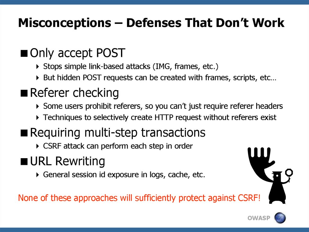 Misconceptions – Defenses That Don't Work