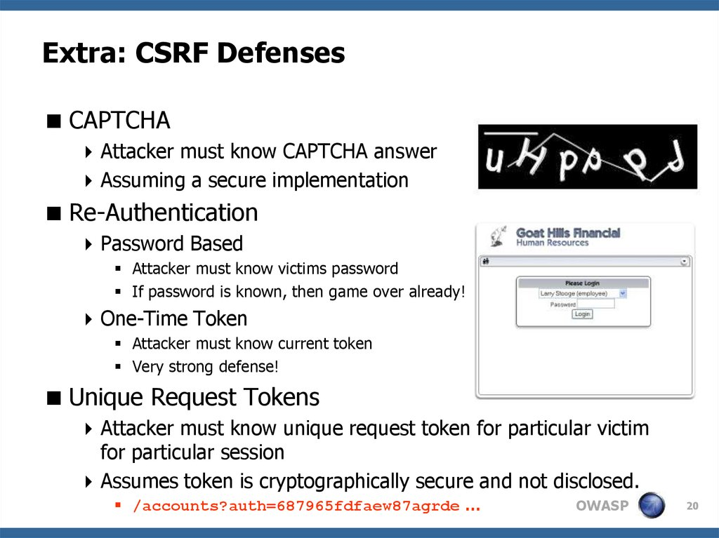 Extra: CSRF Defenses