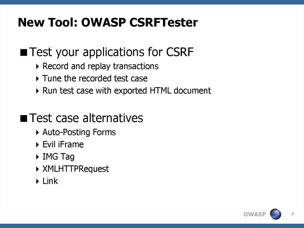 New Tool: OWASP CSRFTester