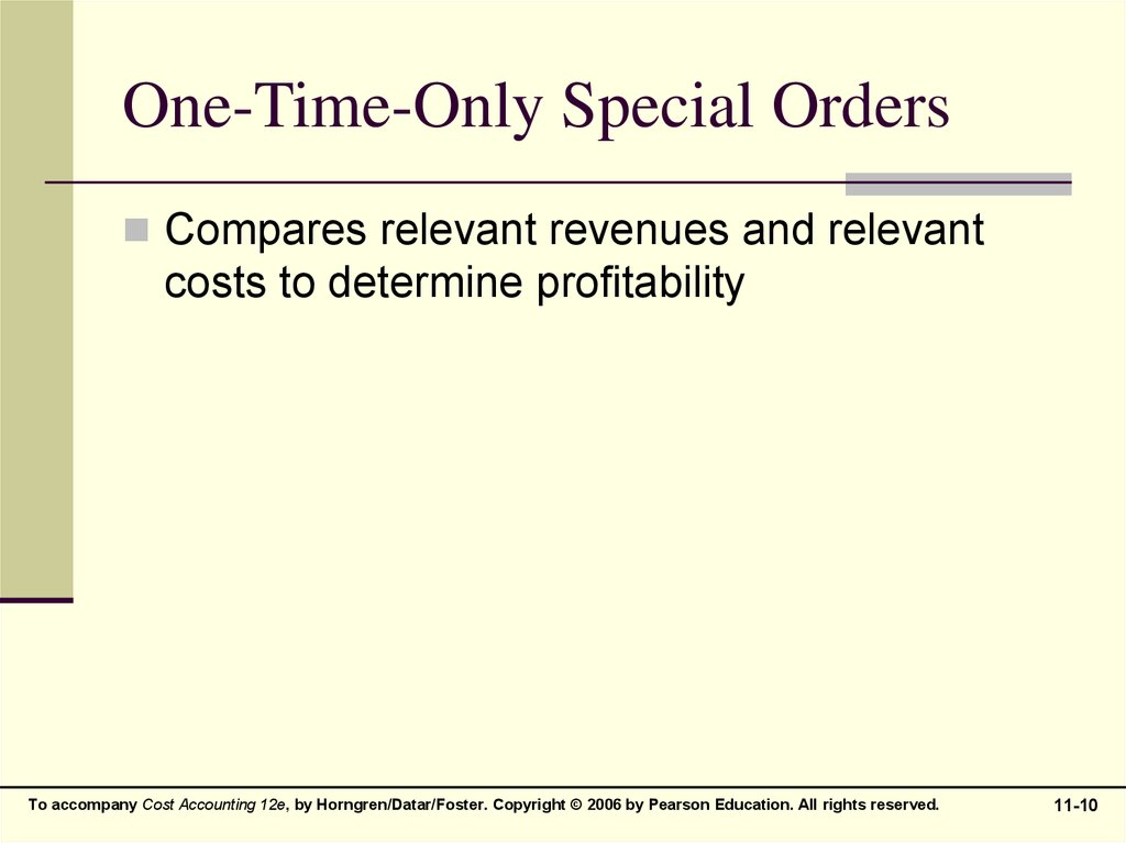relevant revenues and costs refer to