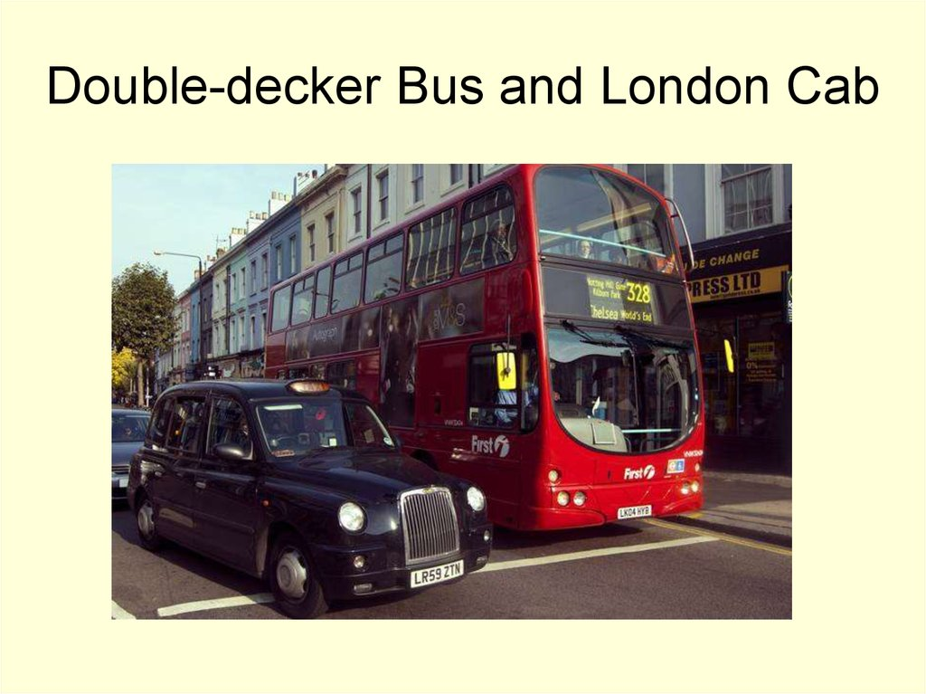 Double-decker Bus and London Cab