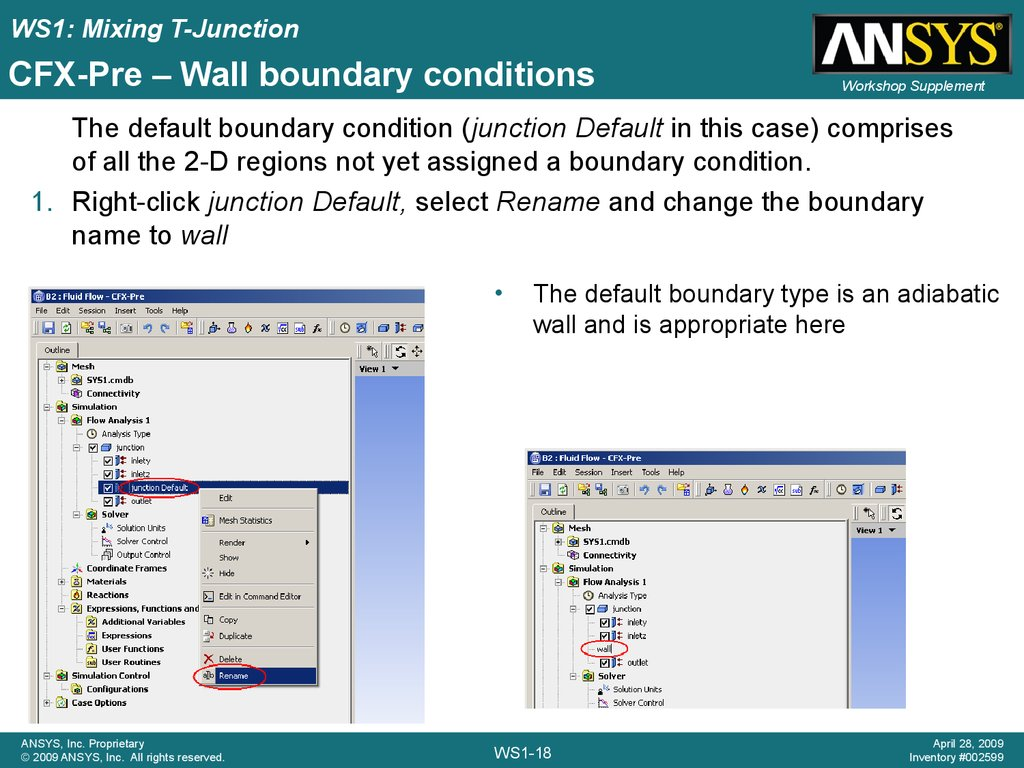 CFX-Pre – Wall boundary conditions
