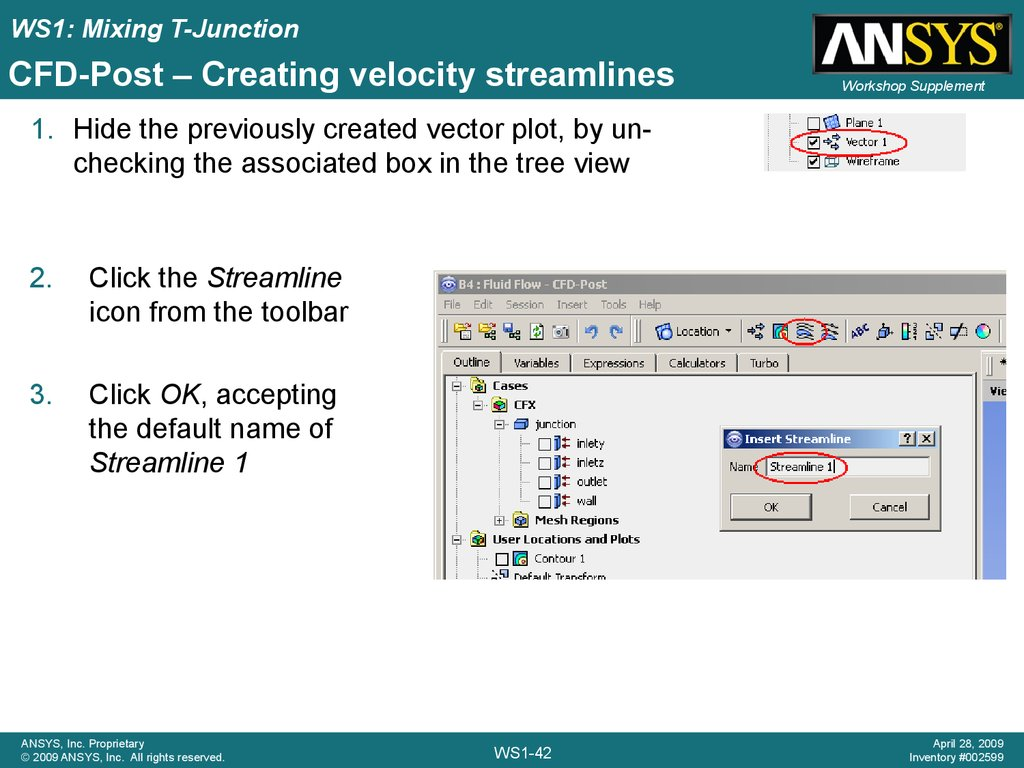 CFD-Post – Creating velocity streamlines