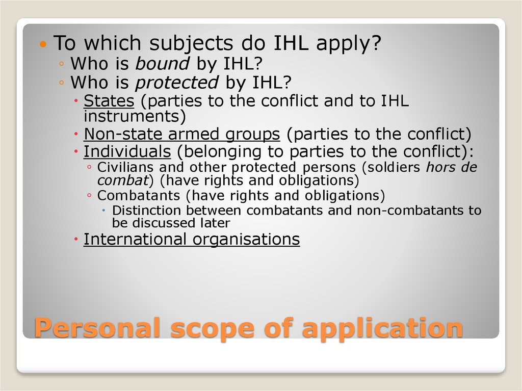 Personal scope of application