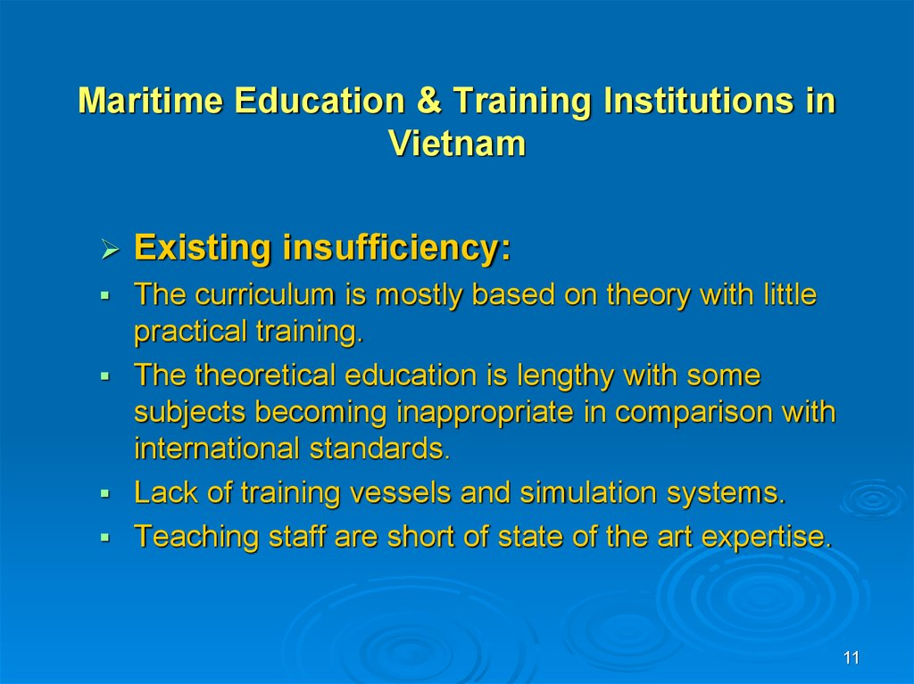 Maritime Education & Training Institutions in Vietnam