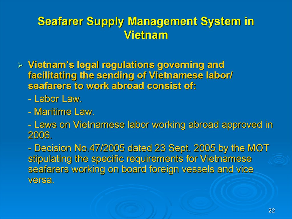 Seafarer Supply Management System in Vietnam