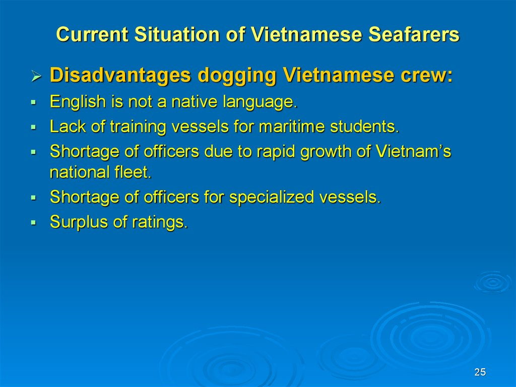 Current Situation of Vietnamese Seafarers
