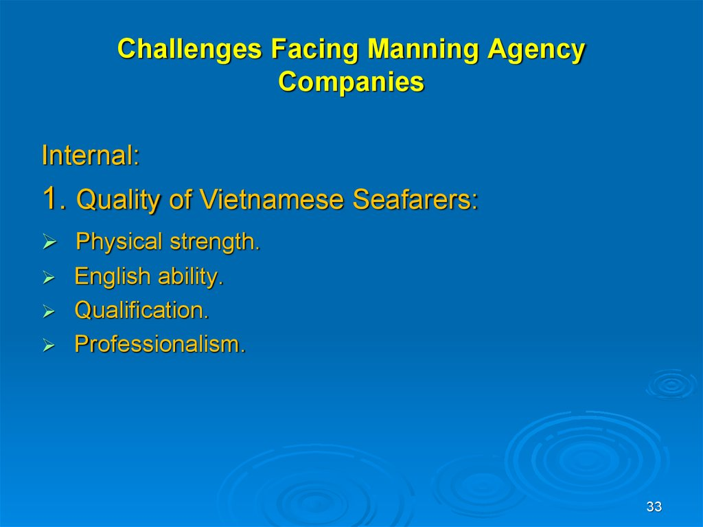 Challenges Facing Manning Agency Companies