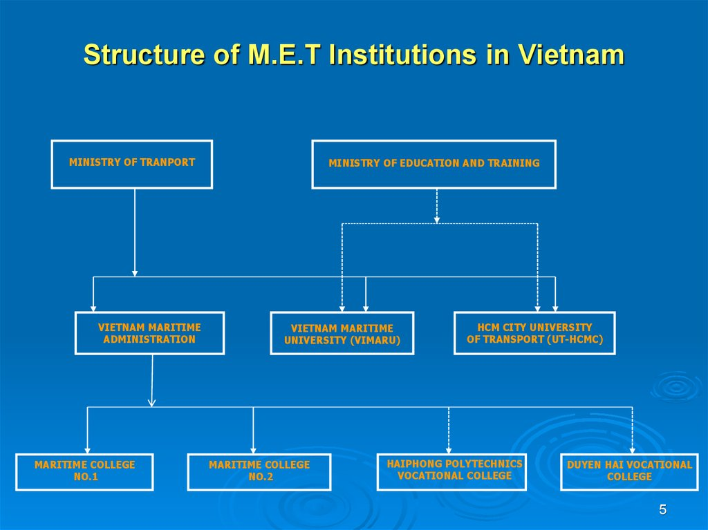 Structure of M.E.T Institutions in Vietnam
