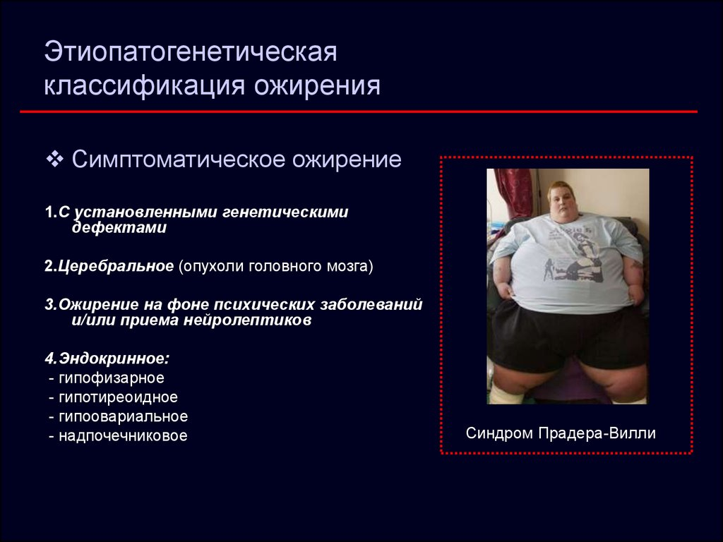 Ожирение. Этиология и патогенезт