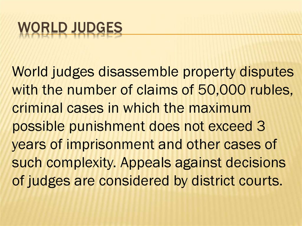 World Judges