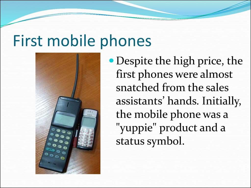 First mobile phones